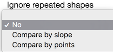 Ignore repeated shapes drop down menu in the Question Editor