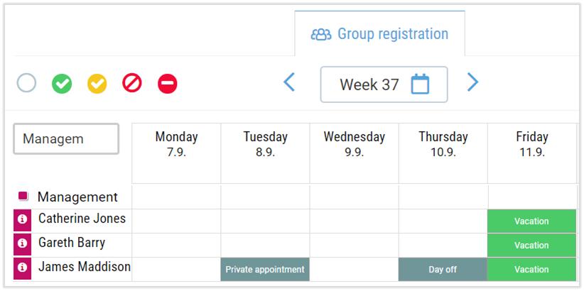 group time registration