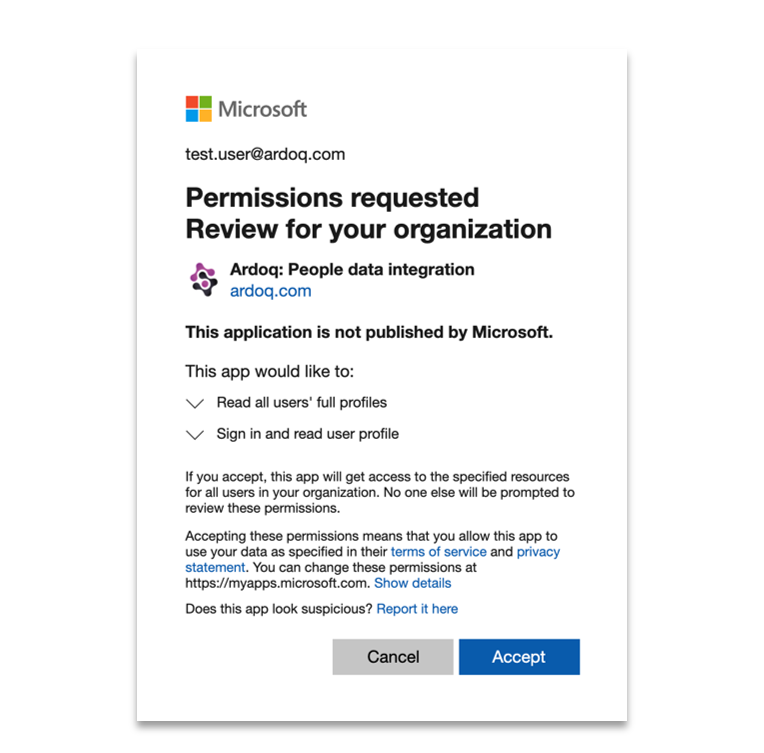 Ardoq Microsoft consent