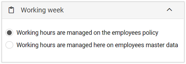 employee working week