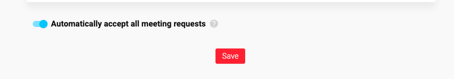 Automatically accept meeting requests on MeetFox
