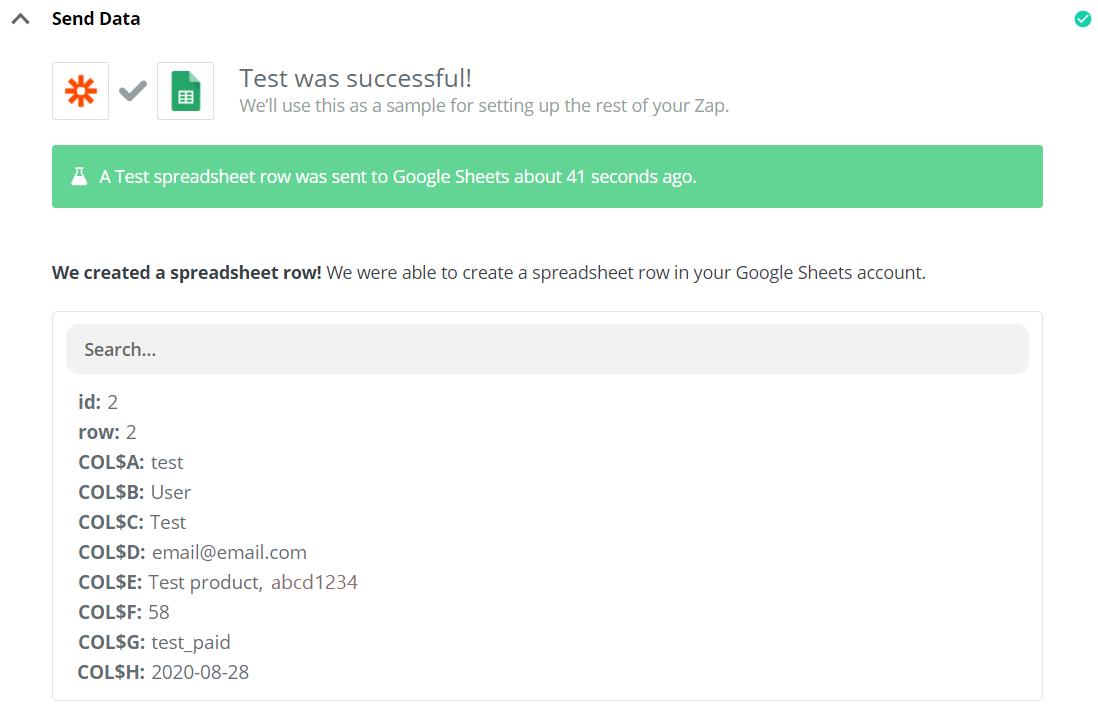 Test successful