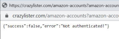 Amazon account error message {