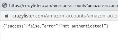 Amazon account error message {