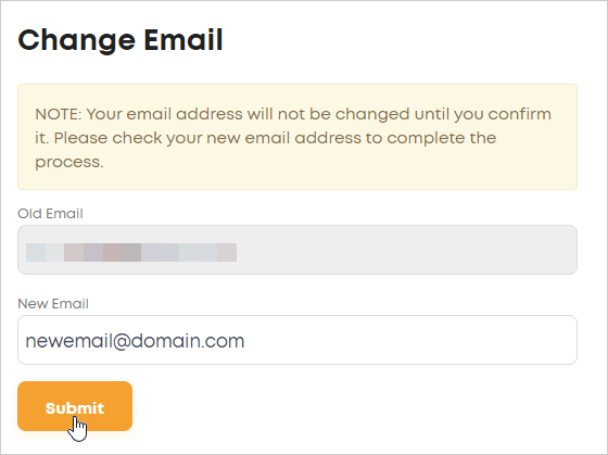 LawTap Change Email form