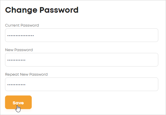 LawTap Change Password form