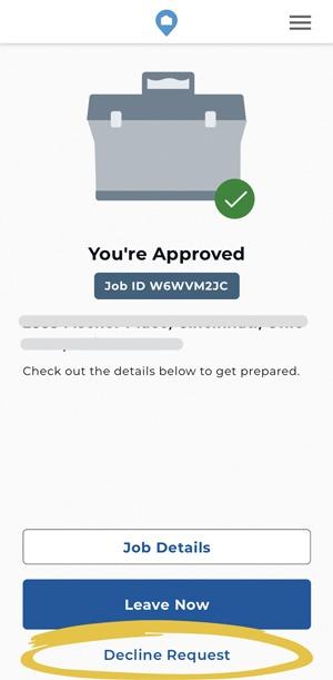 Decline a Job after you Accepted