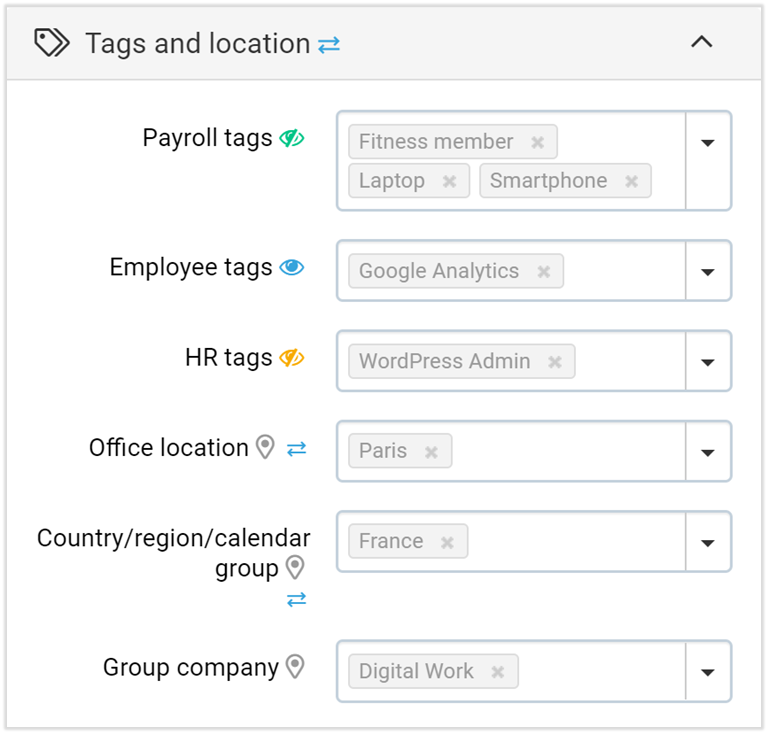 employee tags