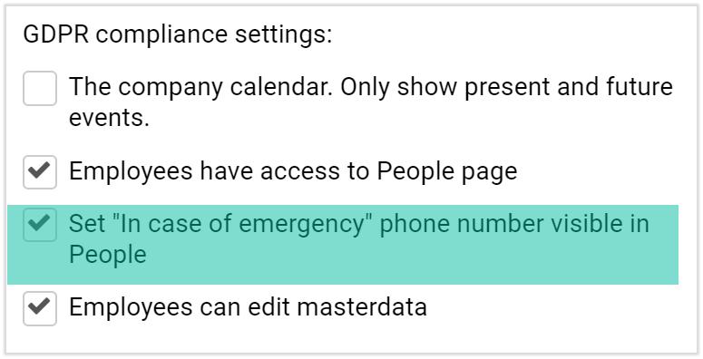 employee case of an emergency