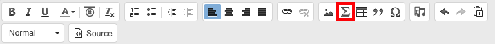 Rich Text Editor panel with Math Editor button.