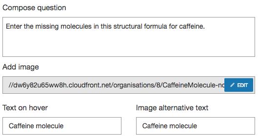 Image Cloze Chemistry question basic parameters