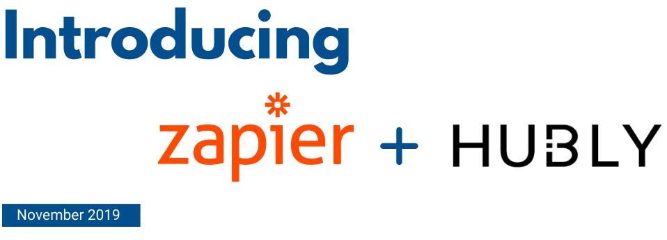 Zapier + Hubly: Integration Announcement Banner