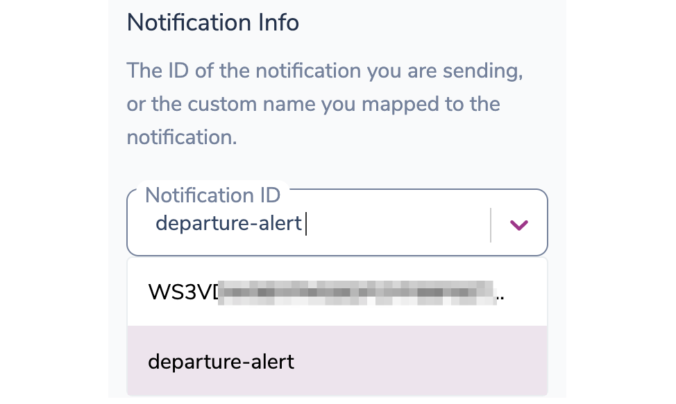 Selecting the Notification to Send