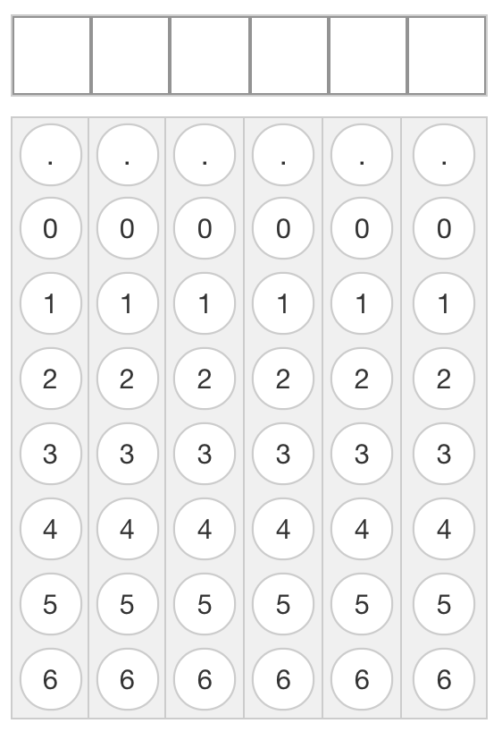 The Gridded question when the floating decimal is enabled