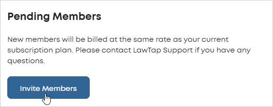 LawTap Lawyer account Pending Members area