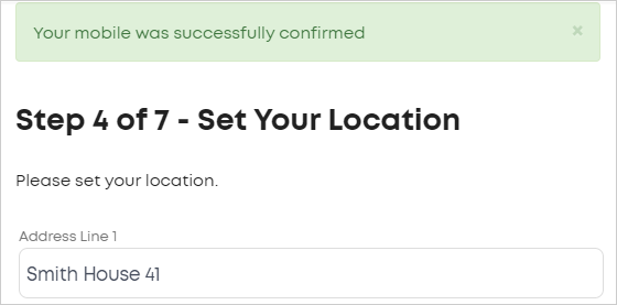 LawTap Step 4 of 7 - Set Your Location form