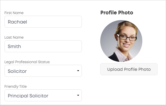 LawTap My Profile - About You tab options