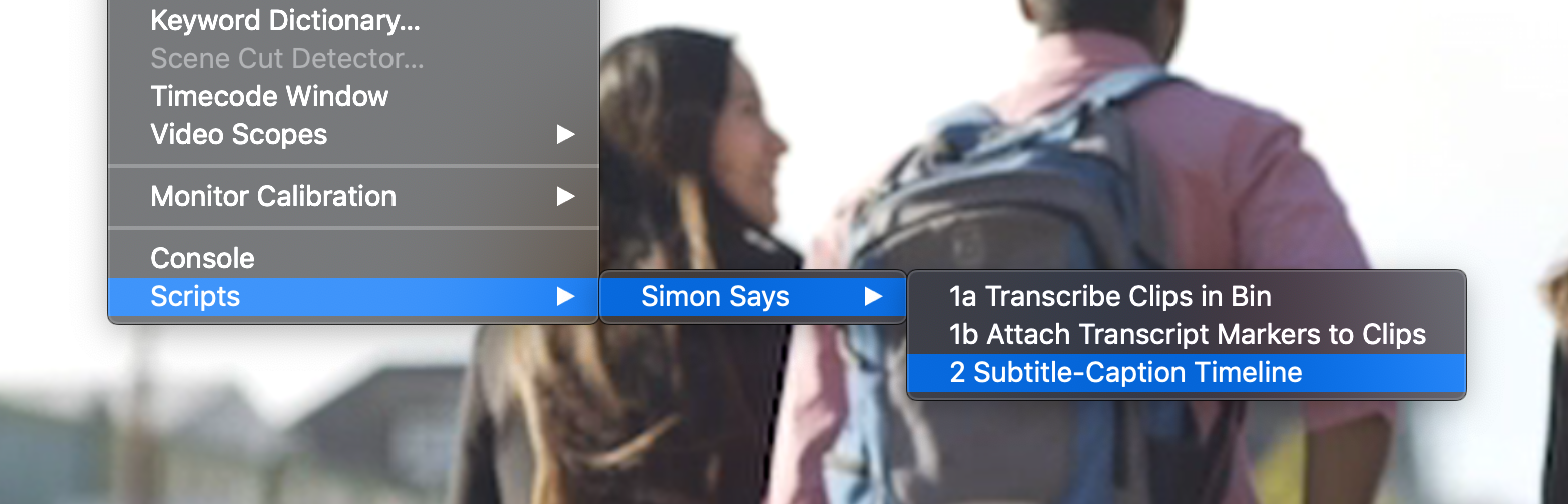 subtitle and caption Resolve timelines with Simon Says