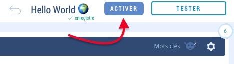 activation de chatbot