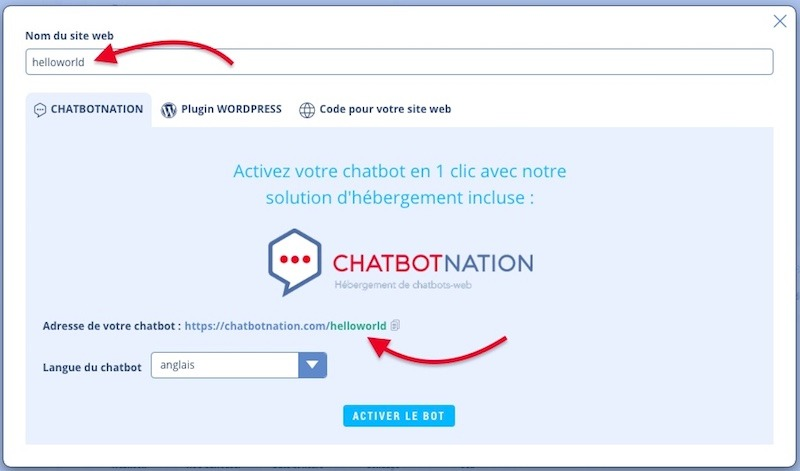 chatbotnation web