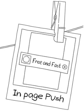 In-page push, push