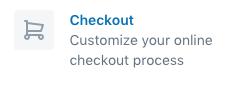 Checkout button in Shopify