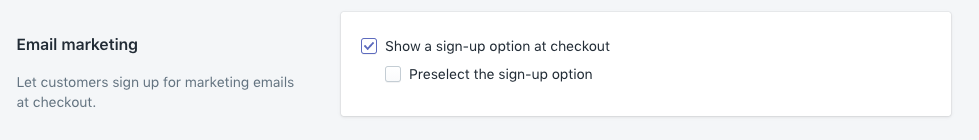 Email marketing options in Shopify