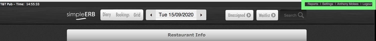 restaurant info