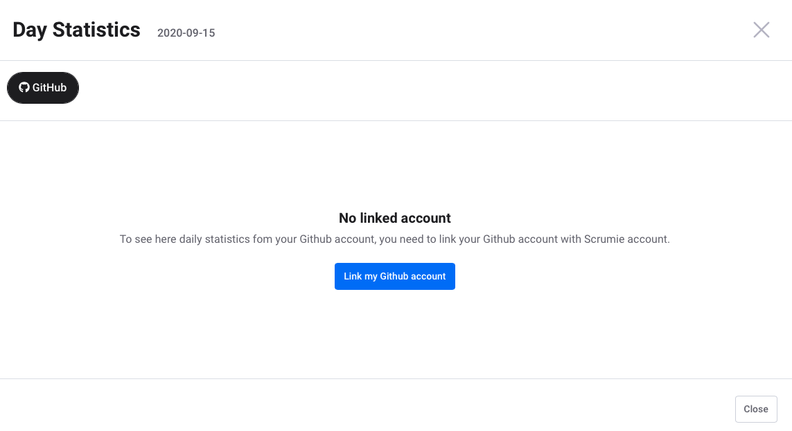 Link Github account to Scrumie