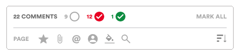 Comment pane filters