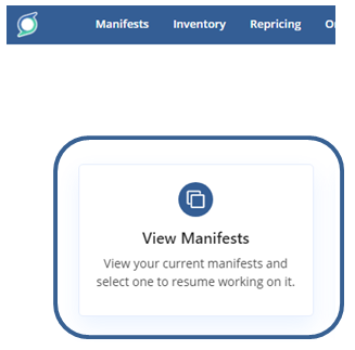 View your SellerChamp marketplace manifests