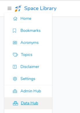 Accessing the data hub