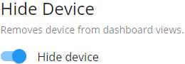 Hidden Device