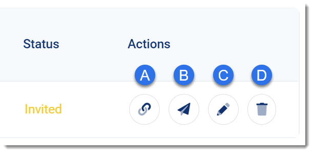 3dsellers teammates actions for editing, inviting, and deleting