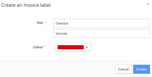 Create or edit a label