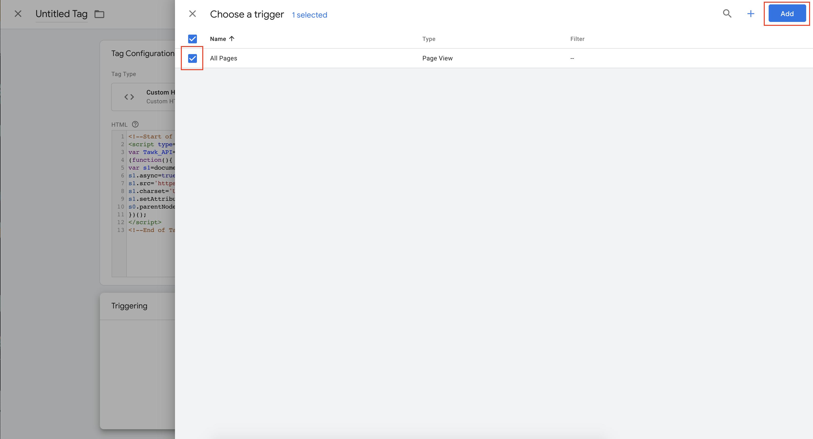 tawk.to خطوات إضافة أيقونة الدردشة باستخدام