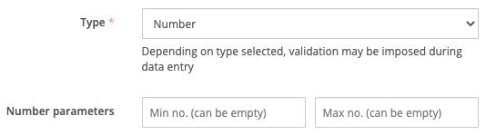 Number or integer custom field types