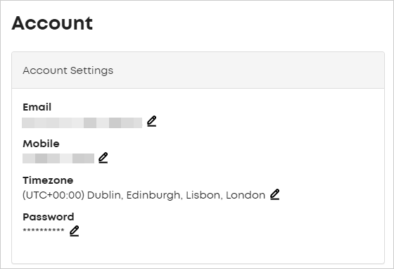 LawTap Account Settings