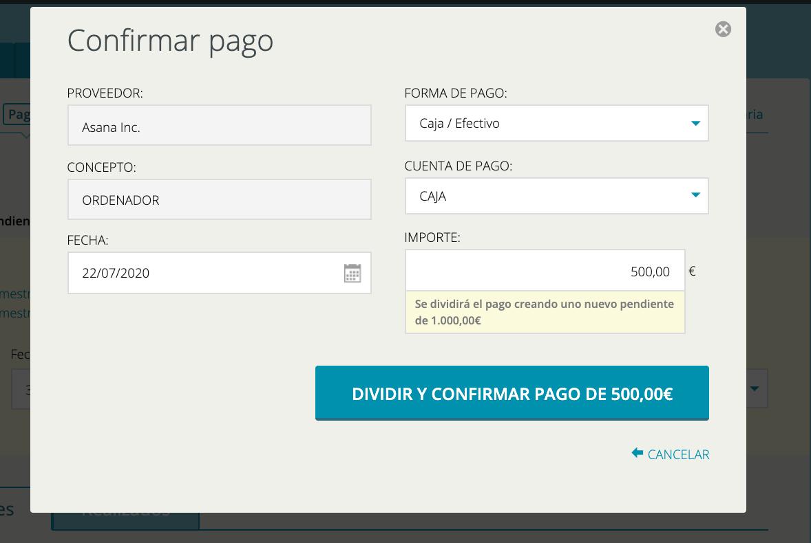 Confirmar pagos cuentica