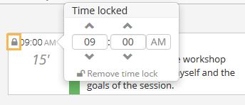 Block starting time