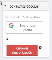 Remover sincronización de contactos