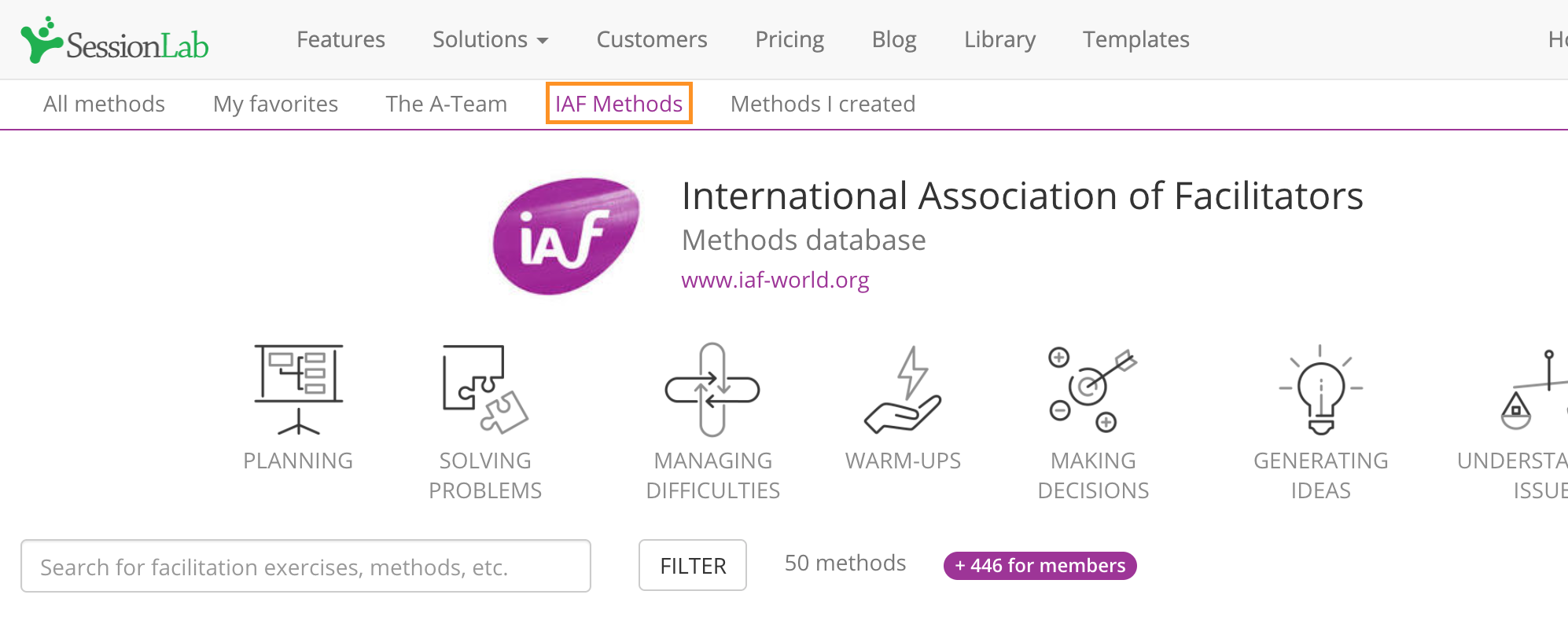 The IAF Methods Library