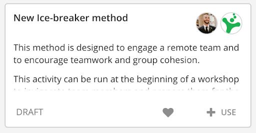 Draft state method