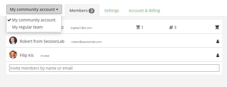 Adding members to your Community account