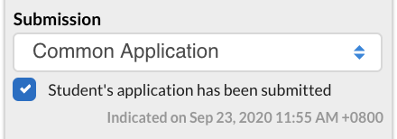 application submission checkbox