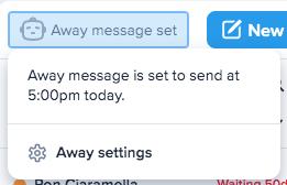 Away message details