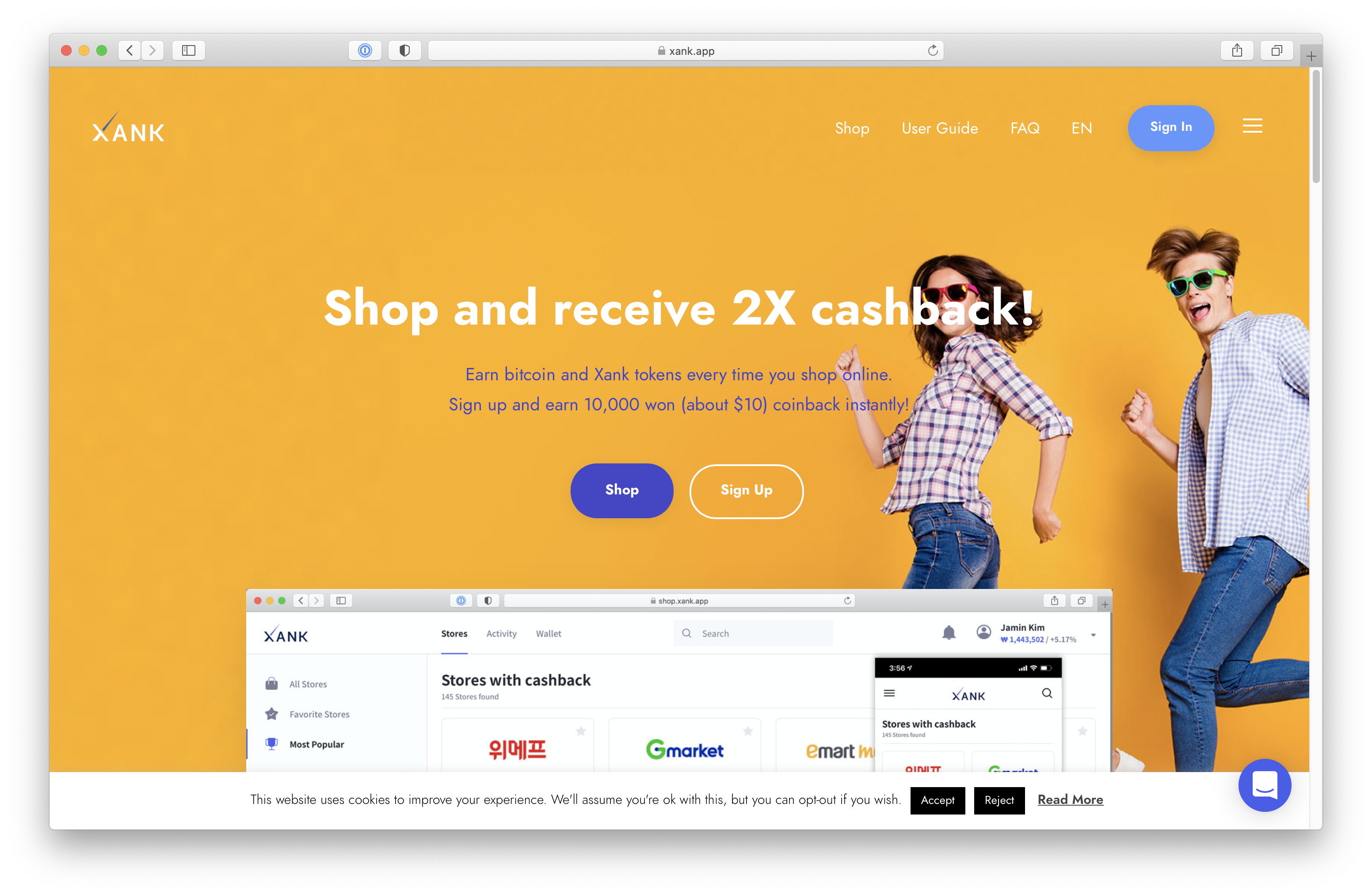 Shop and receive 2X cashback!