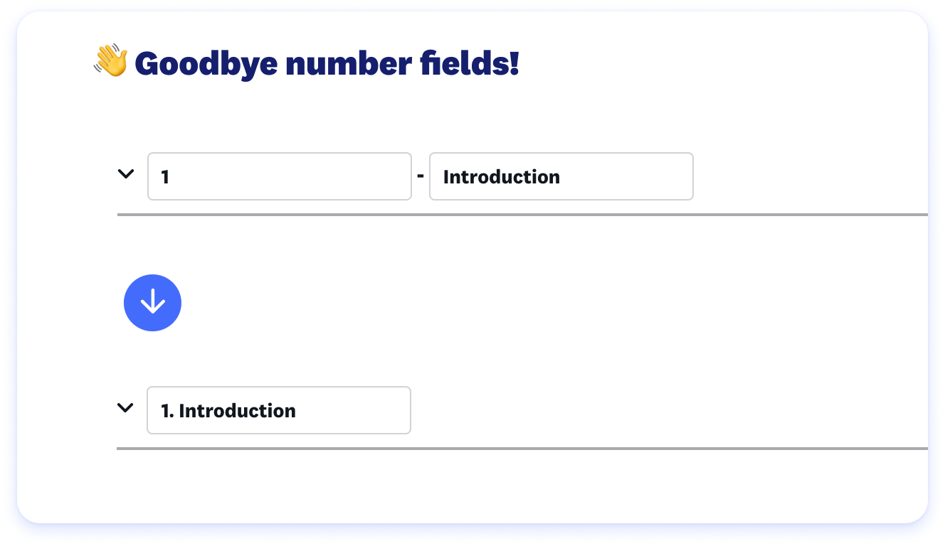 entry forms for an online training course