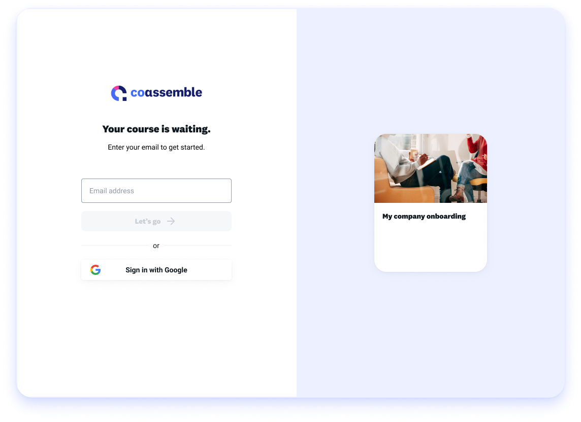Google SSO for online training course enrollment links