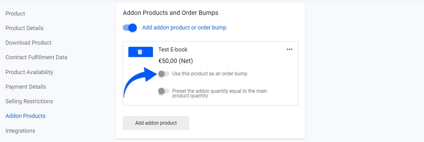 Activate Order Bump